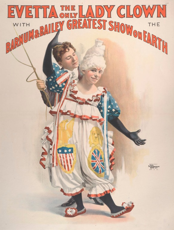poster of Evetta lady clown